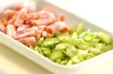 素麺deカルボナーラの作り方1