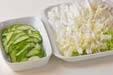 白菜の甘酢漬けの下準備1
