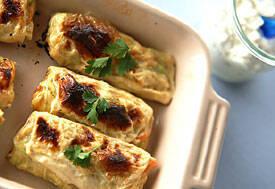 鶏むね肉とキャベツのさくさく湯葉巻き