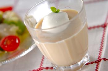 紅茶豆乳プリン