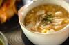 ささ身とふんわり卵のスープの作り方の手順