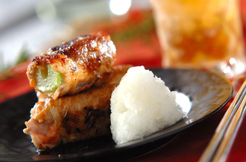 3.セロリの豚肉梅みそ巻き