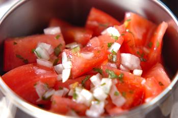 トマトの玉ネギドレッシング