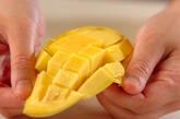 アイスクリーム&フルーツの下準備1