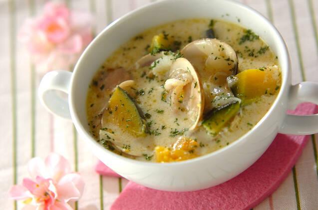 ハマグリのミルクスープ