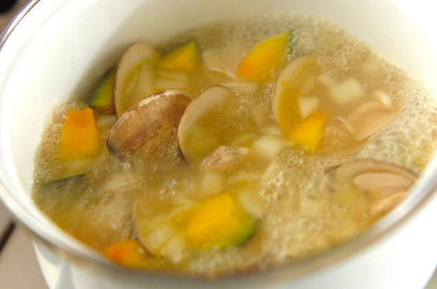 ハマグリのミルクスープの作り方の手順5