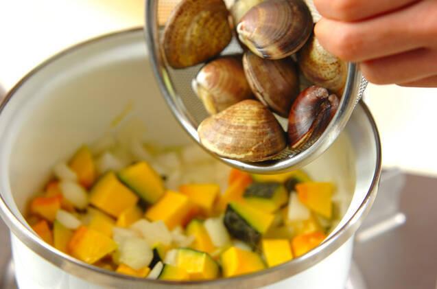 ハマグリのミルクスープの作り方の手順4