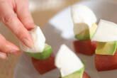 モッツァレラと鮪の前菜の作り方3