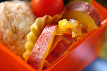 サツマイモのユズジャム煮