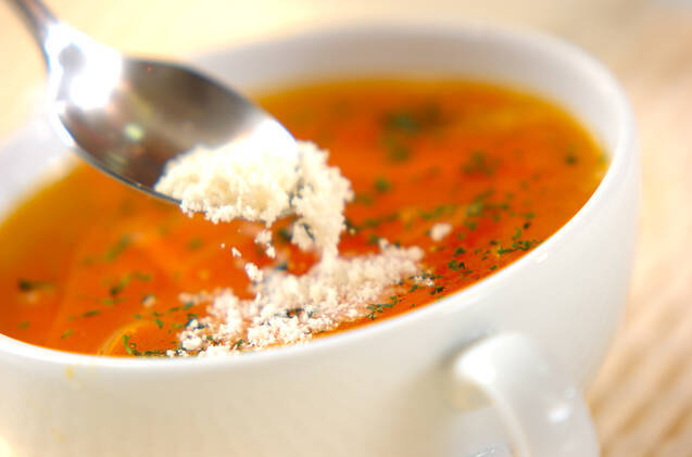 ひらひらニンジンスープの作り方の手順4