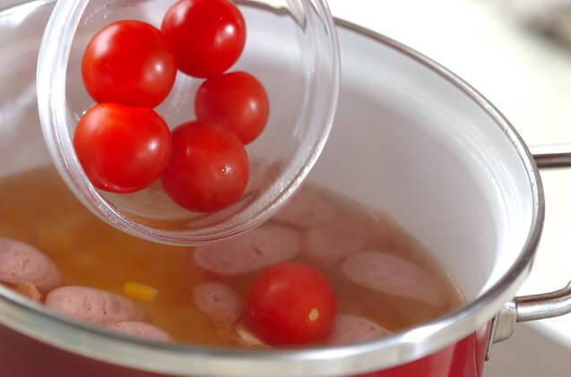 ソーセージとコーンのスープの作り方の手順5
