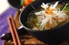 鶏肉入り温麺の作り方の手順