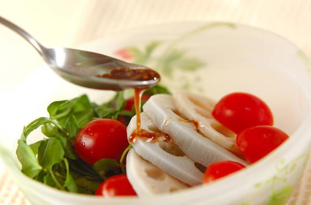 レンコンとクレソンのサラダの作り方の手順5
