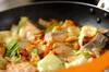 鮭とキャベツのみそ煮の作り方の手順4