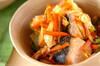 鮭とキャベツのみそ煮の作り方の手順
