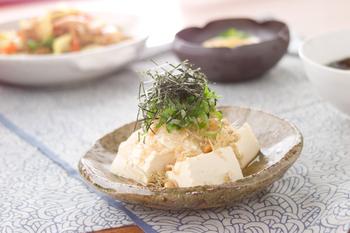 豆腐のカリジャコサラダ