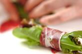 グリーンサラダの生ハムロールの作り方3