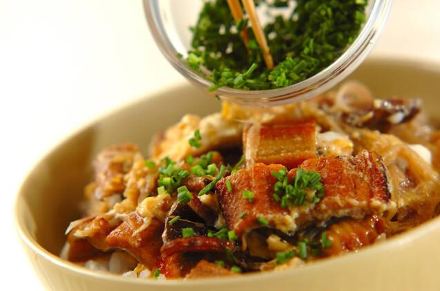 アナゴとミョウガの丼の作り方の手順5