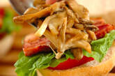 キノコたっぷり、ヘルシーハンバーガーの作り方16