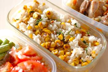 トウモロコシの炒めご飯