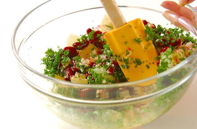 ムラサキのサラダの作り方の手順3