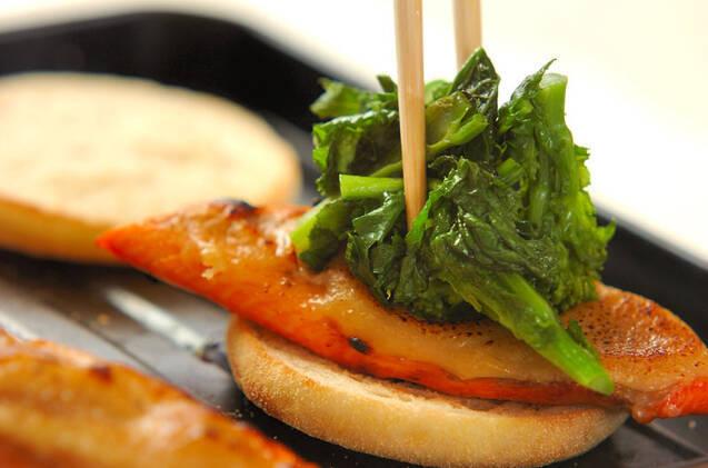鮭と菜の花の春色サンドの作り方の手順7