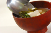 アオサのみそ汁の作り方1