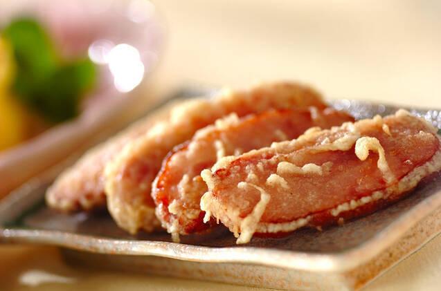 焼豚の天ぷら