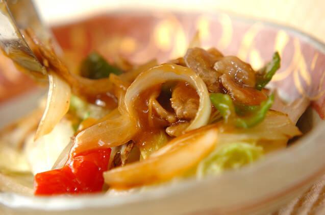 焼き白菜の豚肉黒酢あんかけの作り方の手順4