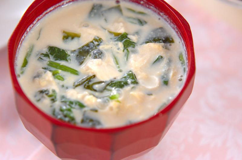 クリーミーでまろやか♩豆腐の豆乳汁