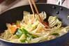 イカと野菜のソース炒めの作り方の手順9