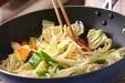 イカと野菜のソース炒めの作り方2