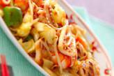 イカと野菜のソース炒め