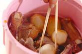 レンジ圧力鍋で骨付き豚バラ肉と赤目芋の照り煮の作り方6