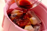 レンジ圧力鍋で骨付き豚バラ肉と赤目芋の照り煮の作り方3