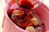 レンジ圧力鍋で骨付き豚バラ肉と赤目芋の照り煮の作り方5