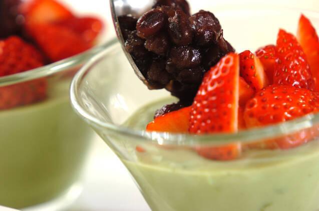 イチゴと小豆の抹茶ゼリーの作り方の手順6