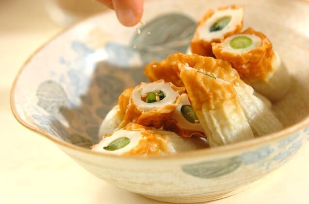 野沢菜ちくわの作り方の手順2