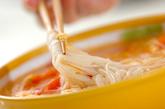 トマトと卵の温麺の作り方4