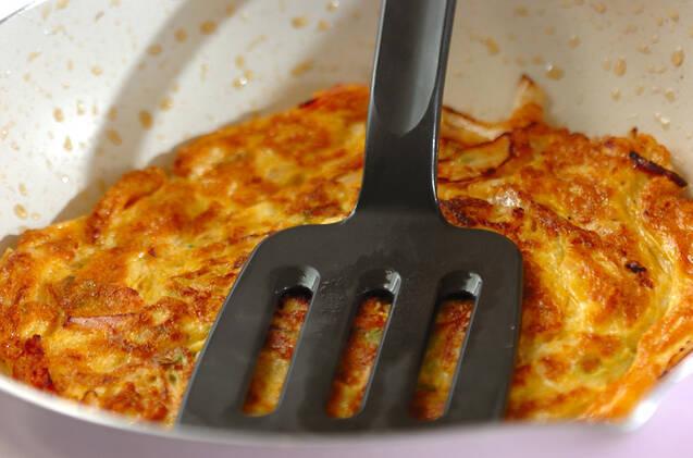 フライパンで具だくさん卵焼きの作り方の手順6