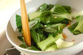 シューマイとチンゲンサイのケチャップ炒めの作り方2