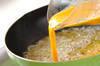 シラスとキヌサヤの卵丼の作り方の手順2
