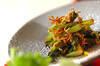 カブの葉とチリメンジャコの炒め物の作り方の手順
