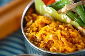 煮カボチャとツナの和え物