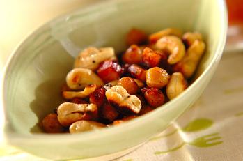 厚切りベーコンのナッツ炒め