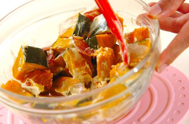 カボチャサラダの作り方の手順3