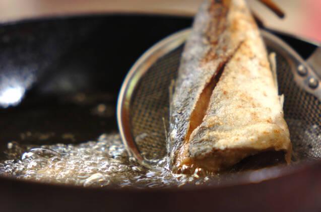 小アジの唐揚げの作り方の手順4