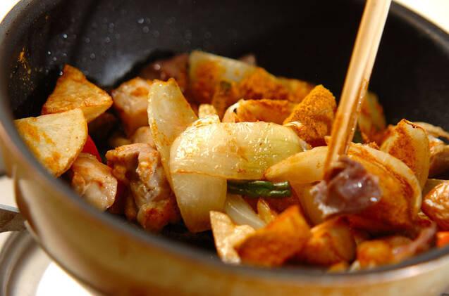 鶏のカレー炒めの作り方の手順10