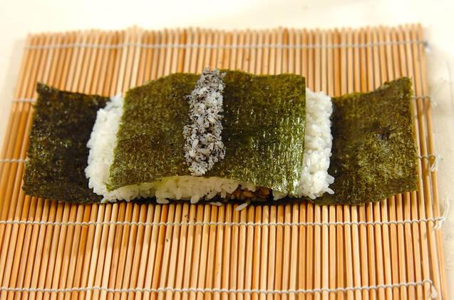 わんちゃんデコ巻き寿司の作り方の手順5