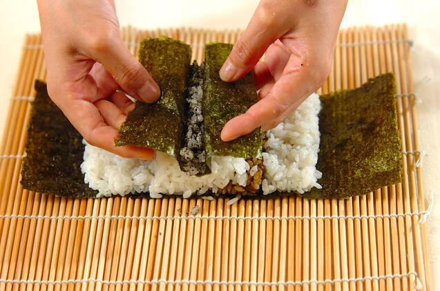 わんちゃんデコ巻き寿司の作り方の手順6